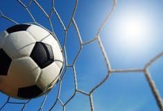 Het voetbal van het voetbalgebied royalty-vrije stock afbeeldingen