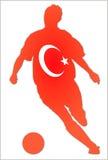 Het voetbal van Turkije royalty-vrije illustratie