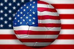Het Voetbal van Verenigde Staten de V.S. Stock Foto