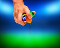 Het voetbalbal van Brazilië Royalty-vrije Stock Afbeeldingen