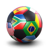 Het voetbalbal van de Kop van de wereld Royalty-vrije Stock Foto's