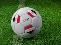 Het voetbalbal van Egypte Stock Afbeelding