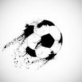Het voetbalbal van Grunge royalty-vrije illustratie