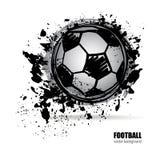 Het voetbalbal van Grunge Royalty-vrije Stock Foto's