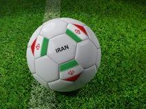 Het voetbalbal van Iran Stock Foto's