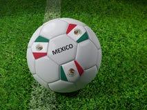 Het voetbalbal van Mexico Royalty-vrije Stock Afbeeldingen