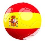 Het voetbalbal van Spanje op wit Stock Afbeelding