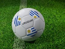 Het voetbalbal van URUGUAY Royalty-vrije Stock Foto's