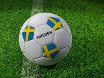 Het voetbalbal van Zweden Stock Afbeelding