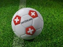 Het voetbalbal van Zwitserland Royalty-vrije Stock Foto's
