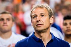 Het voetbalbus Jurgen Klinsmann van Verenigde Staten Stock Foto