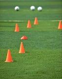 Het voetbalgebied Stock Foto's