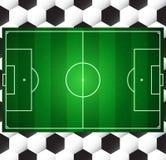Het voetbalgebied van de voetbal Stock Afbeelding