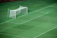 Het voetbalgebied van het doel stock foto