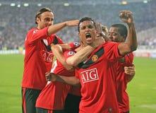 Het voetbalgelijke van Champions League Royalty-vrije Stock Foto