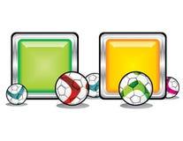 Het voetbalillustratie van de voetbal Royalty-vrije Stock Afbeeldingen