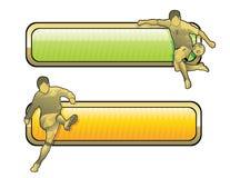Het voetbalillustratie van de voetbal Stock Afbeeldingen