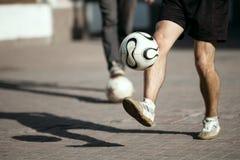Het voetballeven. Stock Foto's