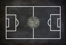 Het voetbalspel van Brazilië 2014 Stock Foto's