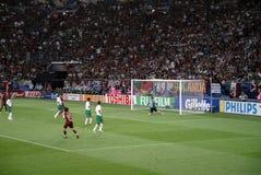 Het Voetbalstadion van keeper @ Gelsenkirchen Stock Foto
