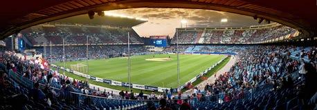 Het voetbalstadion van Vicente Calderon, Madrid Stock Fotografie