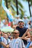 Het voetbalventilators van Argentinië Stock Fotografie