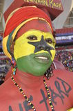 Het voetbalverdediger van Ghana âdie hardâ Stock Foto's