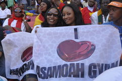 Het voetbalverdedigers van Ghana Stock Foto