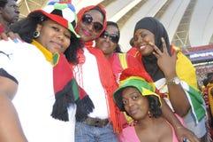Het voetbalverdedigers van Ghana Stock Fotografie