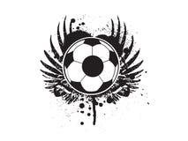 Het voetbalVoetbal van Grunge Royalty-vrije Stock Foto's