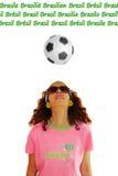 Het Voetbalvoetbal van wereldbekerbrazilië Royalty-vrije Stock Afbeeldingen