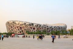 Het Vogel` s Nest is een stadion voor gebruik door 2008 de Zomerolympics en Paralympics die wordt ontworpen royalty-vrije stock afbeelding
