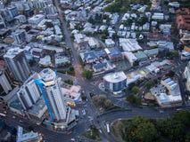 Het Vogelperspectief van Brisbane stock afbeelding