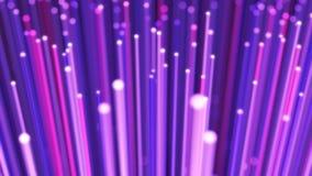 Het volgen van vezel optische kabel over het kader stock videobeelden
