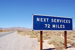 Het volgende Uithangbord van de Diensten stock afbeelding