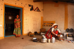 Het volks Leven in Gujarat Stock Foto's