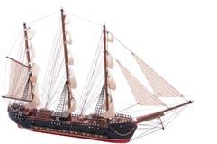 het volledig gemonteerde model van het zeilschip royalty-vrije stock afbeeldingen