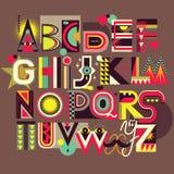 Het volledige alfabet van de kunstdoopvont Royalty-vrije Stock Foto