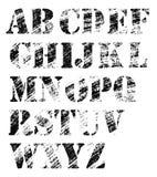 Het volledige alfabet van Grunge Stock Foto