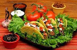 Het volledige Diner van de Taco Stock Afbeelding