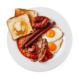 Het volledige Engelse Ontbijt isoleert Stock Afbeelding