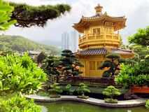 Het Volledige hof van HONGKONG van goud stock foto