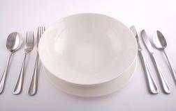 Het volledige maaltijd plaatsen Stock Foto's