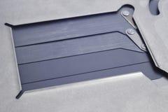 Het volledige macrodetail van het kaderdslr blind Fotografische apparatuur Re royalty-vrije stock fotografie