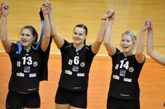 Het volleyball extra liga van vrouwen, team frydek-Mistek Stock Afbeelding