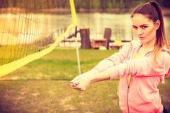 Het volleyball van het vrouwenspel Royalty-vrije Stock Foto
