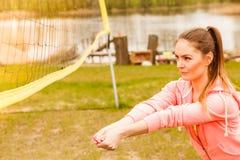 Het volleyball van het vrouwenspel Stock Fotografie
