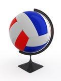 Het volleyball is wereld Stock Foto