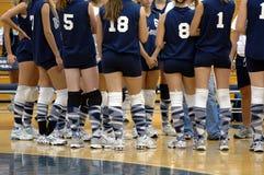 Het volleyballteam van meisjes Royalty-vrije Stock Afbeelding