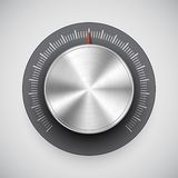 Het volumeknop van het chroom (knoop, muziektuner) Stock Afbeeldingen